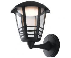 Lanterna Verso Alto Con Griglia Alluminio Nero Diffusore Policarbonato Led 12 Watt Luce Naturale Intec Lant-cloe/ap1a