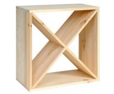 Cantinetta Portabottiglie In Legno Abete 48x23x48 Cm 24 Bottiglie Fumer Win Cube
