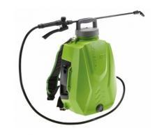 Pompa Irroratrice A Zaino A Batteria Da Giardino 12 Litri Rama Futura Verde