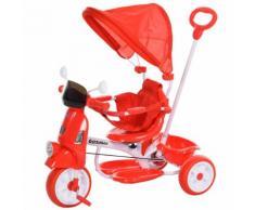 Triciclo Passeggino Con Seggiolino Reversibile Per Bambini Benzoni Rosso