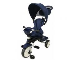 Triciclo Per Bambini Passeggino Comfort 4 In 1 Happy Kids Blu
