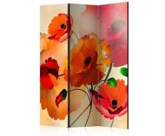 Paravento 3 Pannelli - Velvet Poppies 135x172cm Erroi