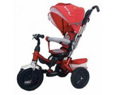 Passeggino Triciclo Seggiolino Reversibile Kids Joy Royal Rosso
