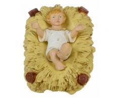 Gesù Bambino Nella Culla H16 Cm In Resina Per Presepe Natalizio Vanossi