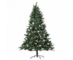 Albero Di Natale Artificiale 210 Cm 1622 Rami Con Pigne Hmc Pino Verde