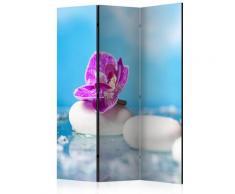 Paravento 3 Pannelli - Pink Orchid And White Zen Stones 135x172cm Erroi