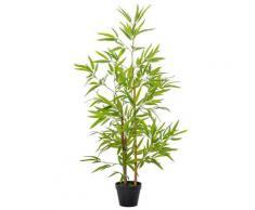 Pianta Artificiale Bambù H120 Cm Con Vaso Verde