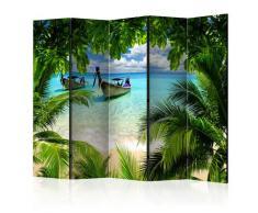 Paravento 5 Pannelli - Tropical Paradise Ii 225x172cm Erroi