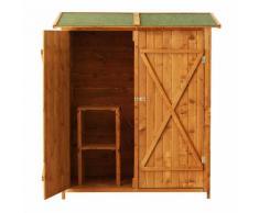 Casetta Box Da Giardino In Legno Naturale 160x125 Cm Miozzi