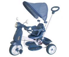 Triciclo Passeggino Con Seggiolino Reversibile Per Bambini Kid Go Blu
