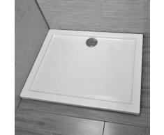 Piatto Doccia 80x120 Cm In Resina Vorich Basic Bianco