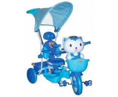 Passeggino Triciclo Kidfun Gattino Azzurro
