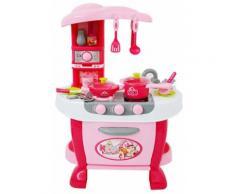Cucina Giocattolo Per Bambini 73x51x30 Cm Con Utensili Kids Joy Rosa