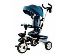 Passeggino Triciclo Pieghevole Per Bambini Miller Blu