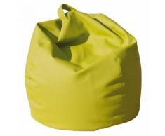 Poltrona A Sacco Pouf In Eco Pelle Verde Acido Avalli