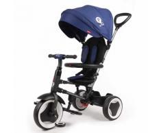 Triciclo Per Bambini Passeggino Pieghevole Qplay Rito 3 In 1 Happy Kids Blu