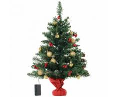 Albero Di Natale Artificiale Da Tavolo 60 Cm 73 Rami 15 Led Benzoni Verde