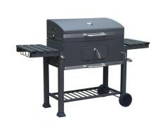 Barbecue A Carbone Carbonella Con Coperchio 160x160x108 Cm Kansas Nero