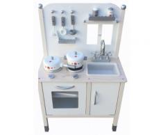 Cucina Giocattolo In Legno Con Utensili 50x30x88 Cm Miller Cottage Grigia
