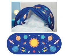 Tenda Gioco Per Letto Bambino Sleepfun Tent Pianeta Festa Blu