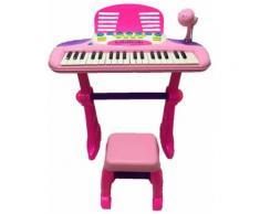Pianola 37 Tasti Con Sgabello Mp3 E Registratore Kids Joy Gioca E Suona Rosa