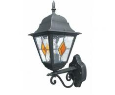 Lanterna Verso Alto Alluminio Nero Oro Diffusore Vetro Decorato E27 Intec Lant-pisa/ap1a