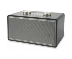 Altoparlante Speaker 80w Wireless Con Radio Effetto Legno Kooper Rock Nero