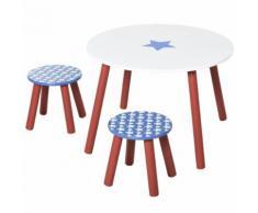 Set Tavolino E 2 Sgabelli Per Bambini In Legno Hmc