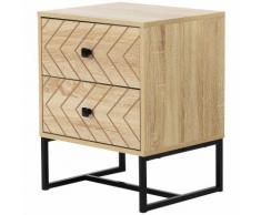 Comodino In Legno Stile Nordico Scandinavo Benzoni Natural Wood