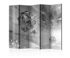 Paravento 5 Pannelli - Abstract Greyness Ii 225x172cm Erroi