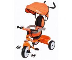 Triciclo A Spinta Seggiolino Reversibile Per Bambini Miller Colibrino Arancione