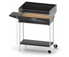 Barbecue A Carbone Carbonella E Legno Con Griglia Inox Famur Bk 5