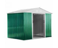 Casetta Box Da Giardino In Lamiera 261x181x198 Cm Basic L Verde
