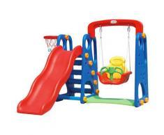 Castello 3 In 1 Canestro, Scivolo E Altalena Kids Joy Baby Park