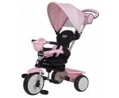 Passeggino Triciclo Per Bambini Passeggino Comfort 4 In 1 Happy Kids Rosa