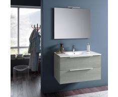 Mobile Da Bagno Sospeso Con Lavabo Specchio E Lampada A Led Tft Luna Yuta