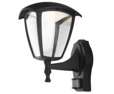 Lanterna Verso Alto Sensore Di Movimento Alluminio Nero Diffusore Policarbonato Led 12 Watt Luce Naturale Intec Lant-lady/ap1a-s