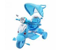 Triciclo A Spinta Seggiolino Reversibile Per Bambini Kidfun Classic Blu