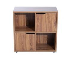 Libreria Mobiletto A 4 Scomparti In Legno 60x29x60 Cm Benzoni
