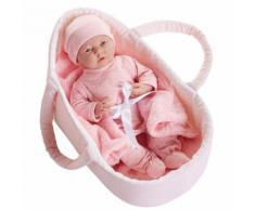 Bambola Bebè Neonato In Culla 39cm Jc Toys