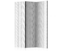 Paravento 3 Pannelli - White Knit 135x172cm Erroi