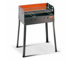 Barbecue A Carbone Carbonella Con Griglia Regolabile 56x35cm Ferraboli Ledro