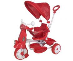 Triciclo Passeggino Con Seggiolino Reversibile Per Bambini Rosso