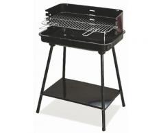 Barbecue A Carbone Carbonella Rettangolare 58x38 Cm Soriani Sun-day Nero