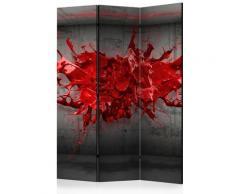 Paravento 3 Pannelli - Red Ink Blot 135x172cm Erroi