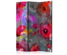 Paravento 3 Pannelli - Painted Poppies 135x172cm Erroi