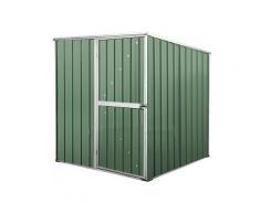 Casetta Box Da Giardino In Lamiera Di Acciaio Porta Utensili 175x185x192 Cm Enaudi Verde