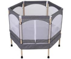 Trampolino Tappeto Elastico Per Bambini 126x109x98 Cm Benzoni Grigio