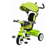 Triciclo A Spinta Seggiolino Reversibile Per Bambini Miller Colibrino Verde