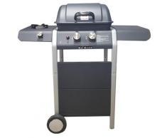 Barbecue A Gas Gpl A Pietra Lavica 2 Fuochi Manieri Gordon Burner Bbc 2f Nero